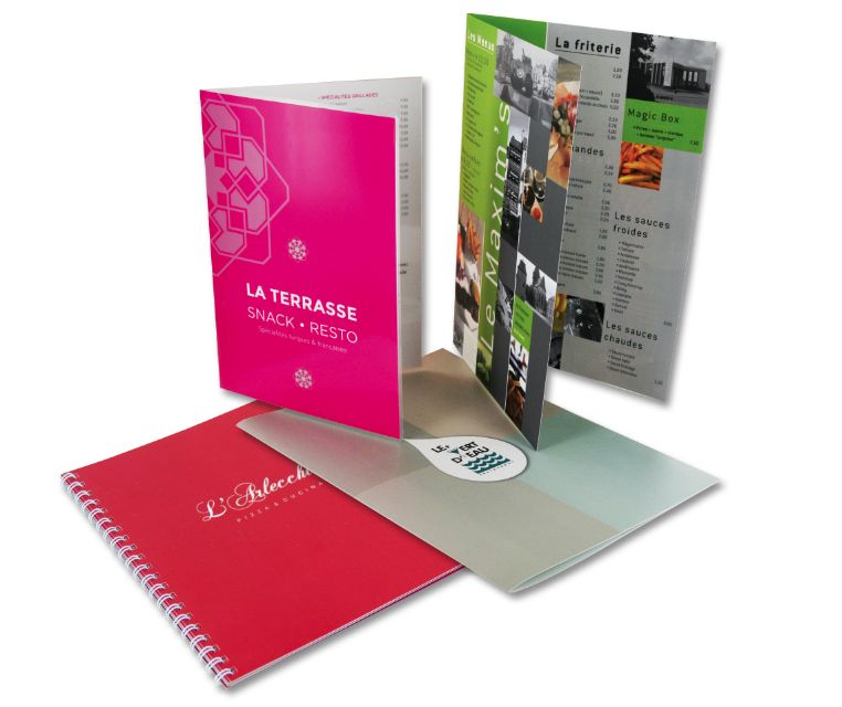 how to type a brochure