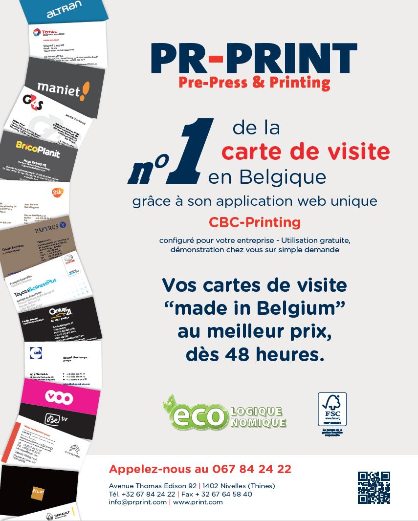 PR PRINT N1 De La Carte Visite En Belgique Grace A Son Application CBC PRINTING